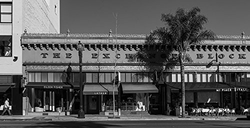 18 x 24 B&W Photo of The Exchange Block, a 1929 commercial building, designed by architect Cyrill Benett, on Colorado Boulevard in Pasadena, California 2013 Highsmith - Colorado California Pasadena Boulevard
