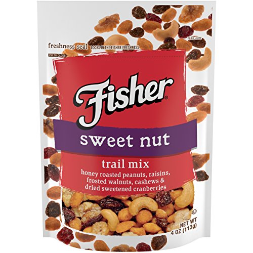 FISHER Snack Sweet Trail Mix, Stand-Up Bag, 4 oz (Pack of 6)