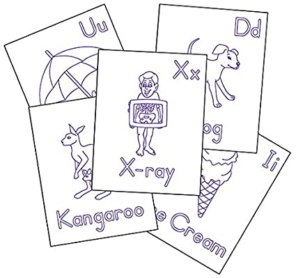 Therapro Raised Line Alphabet Coloring Sheets 26 Sheets