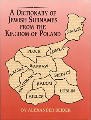 A Dictionary of Jewish Surnames from the Kingdom of Poland