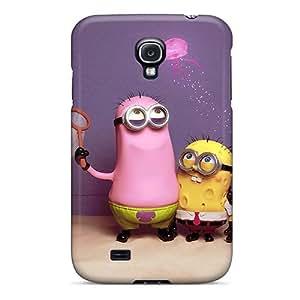 High Grade MXcases Flexible Tpu Case For Galaxy S4 - Minions Sponge Bob Iphone Wallpaper