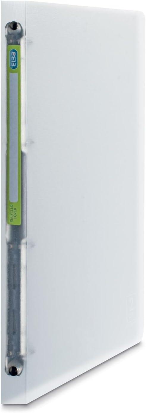 Elba 64898/raccoglitore polipropilene 2/nd Life 5//10e Recycle A4/dorso 20/mm 4/anelli rotondi traslucido