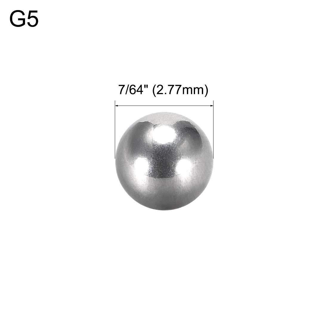 Stahl verchromt verschiedene Durchmesser 2pcs Sourcing Map G5 Kugellager 1-3//4 Inch