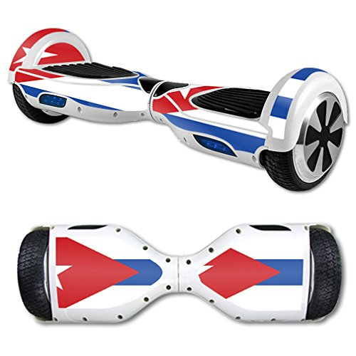 MightySkins Protective Vinyl Skin Decal for Hover Board Self Balancing Scooter Mini 2 Wheel x1 Razor wrap Cover Sticker Cuban Flag