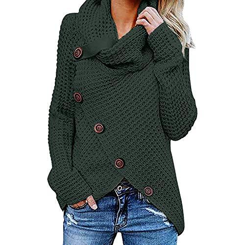 Women's Sweatshirt, FORUU Button Long Sleeve Sweater Pullover Tops Blouse Shirt