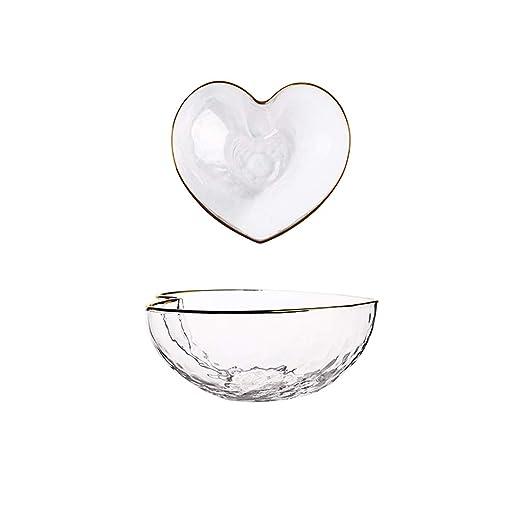 Cuenco de sopa de cristal creativo para ensalada, frutas, para el ...