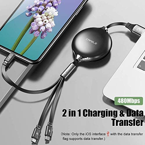 A Mini Three-in-one Data Cable satisfies All Your Charging Equipment Christmas Seamless Pattern