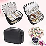 Teamoy Travel Jewelry Organizer Case, Jewelry & Accessories Holder Pouch with Various Compartments, Water-Resistant, Portable to Carry, Perfect Bag for Necklace, Bracelet, Earrings, Rings
