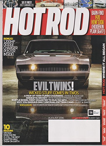 Hot Rod August 2016 Evil Twins! Wicked Stuff Comes in Twos (Cam Dodge V10)
