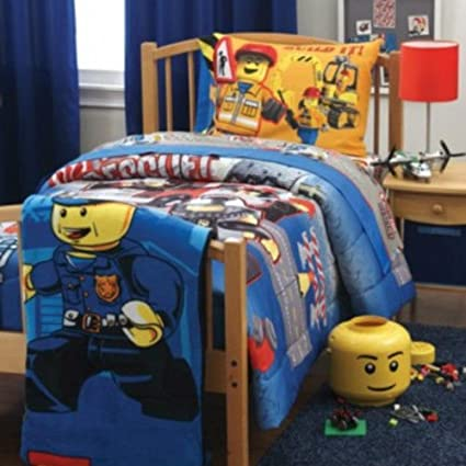 Amazon.com: Twin Size Lego City Bedding Set Boys Bed Bedroom Sheets ...