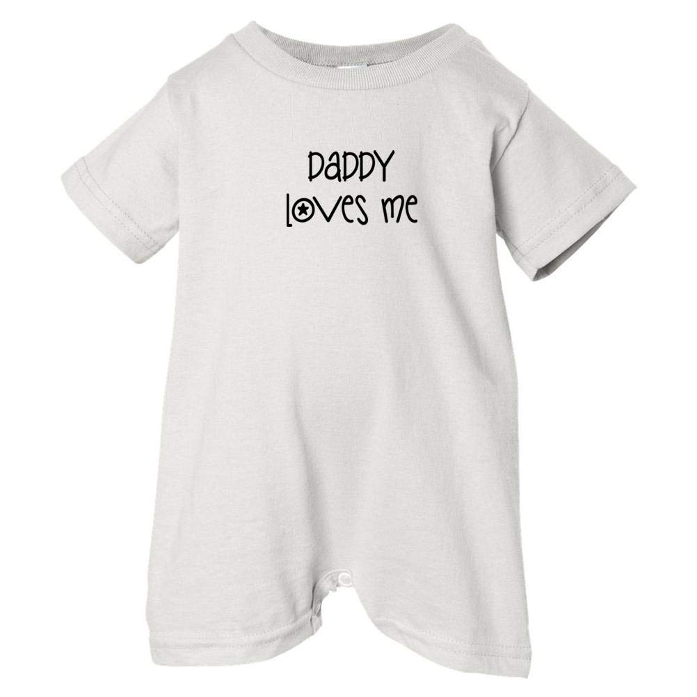 Unisex Baby Daddy Loves Me T-Shirt Romper White, 24 Months So Relative