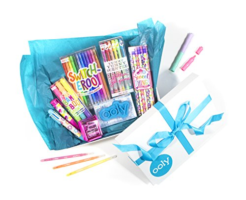 Ooly Self Expression Writing Gift Set for Girls 8-12 -Yummy Scented Glitter Gel Pens,Sweet Things Graphite Pencils,Color Changing Markers, Scented Highlighters,6-Click Multi Pen