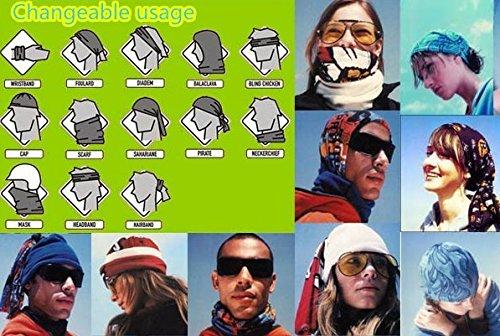 SHINA 11pcs Seamless Sport Bandanas Tube avec motif Paisley multi-usage avec un foulard, masque facial, absorbant l'eau eta sechage rapide et respirante etelastique Head wrap avec resistance UV