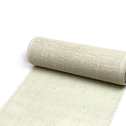 Jute Table Runner - Col. 012 - Cream - 12 by 72, 90, 96, 108... - inch - 29300-300-5-012