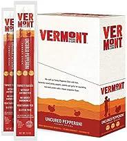 Vermont Smoke & Cure Jerky Sticks - Antibiotic Free Turkey - Gluten Free - Great Keto Snack, High in Protein & Low Sugar - U
