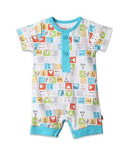 Zutano Baby Boys' Henley Romper 6M (3-6 Months), Teepee