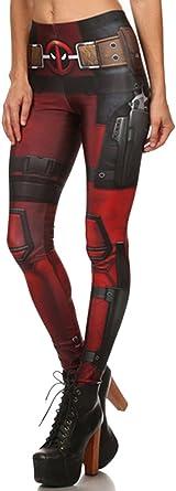 Belsen Women/'s Deadpool elasticity Leggings Pencil Pants M