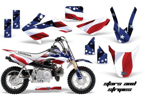 AMR Racing Graphics Kit for MX Honda CRF50 2004-2013 STARS & STRIPES