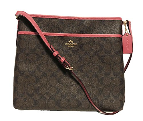 Coach Signature File Crossbody Bag  Im Brown Rouge