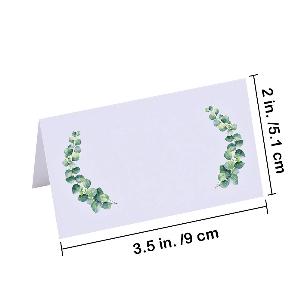 Winlyn 100 Pcs Table Name Place Cards Bulk White Blank Place Cards ...