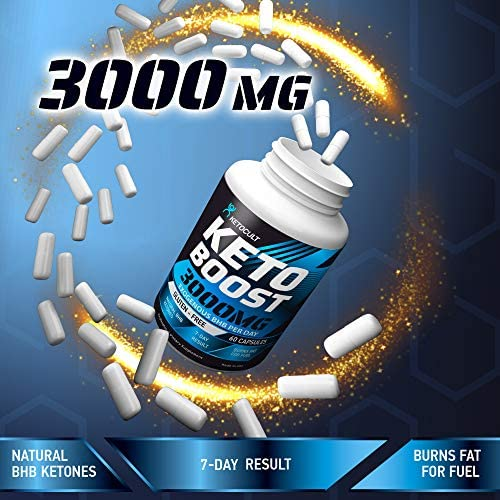 Keto Diet Pills - 5X Potent - Fat Burner 3000mg - Made in USA - Weight Loss Keto Burn - Exogenous Keto BHB Supplement for Women and Men - Keto Supplement & Metabolism Support - BHB Keto Burn 3