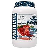 VMI Sports ProtoLyte 100% Whey Isolate Protein Powder Strawberry Milkshake Zero Sugar with Added Electrolytes & Enzymes 1.6lb
