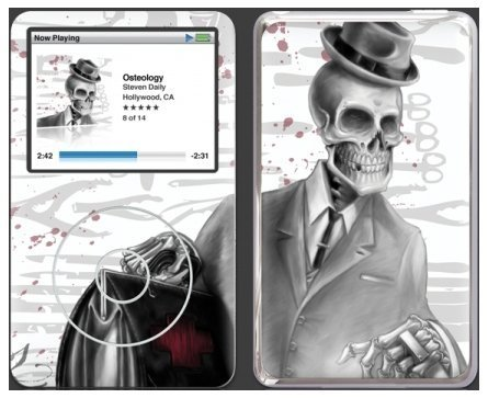 GelaSkins Protective Skin with Screen Protector for iPod Video 5G (Osteology)