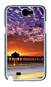 Samsung Note 2 Case landscapes nature sunset beach 2 PC Custom Samsung Note 2 Case Cover White