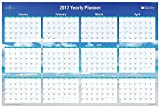 Blue Sky 2017 Laminated Erasable Yearly Wall Calendar, 36