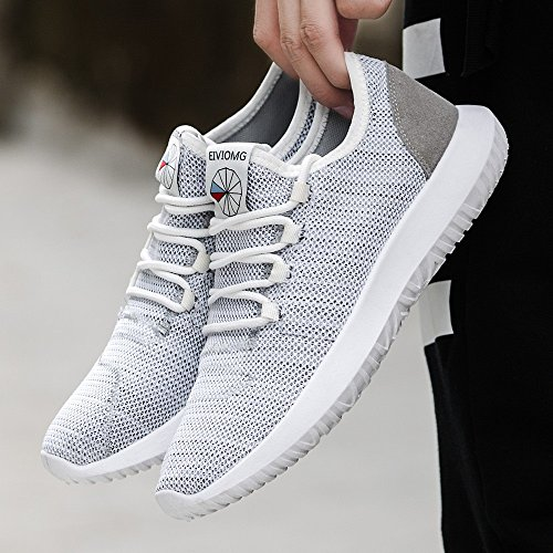 Plana Shoes Gris Zapatillas Malla Running ALIKEEYHombres Redonda Transpirable De Zapatos Casual ZqAwStTx1