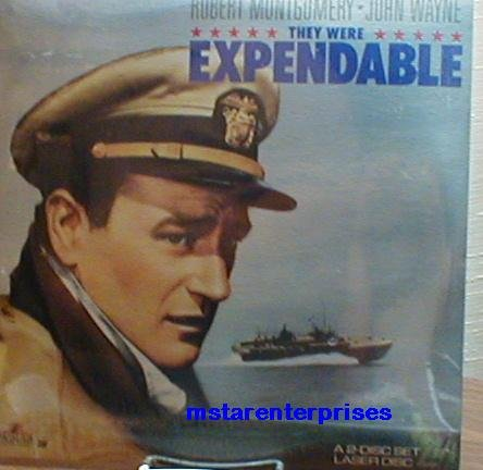They Were Expendable Starring John Wayne, Robert Montgomery,Donna Reed, Jack Holt, Ward Bond NEW Laser Disc - Ford Holt