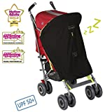 SnoozeShade Original - baby stroller sunshade and blackout blind for strollers (blocks 99% UV)