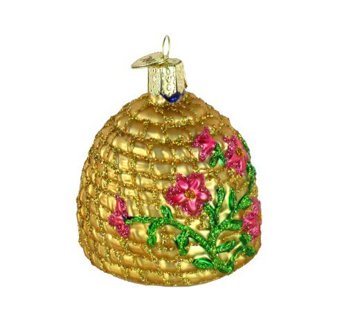 Old World Christmas Ornaments: Bee Skep Glass Blown Ornaments for Christmas Tree by Old World Christmas (Image #3)