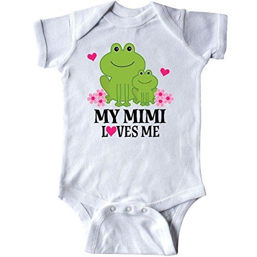 inktastic - Mimi Loves Me Granddaughter Gift Infant Creeper Newborn White 2ec2a -