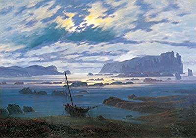The North Sea in Moonlight by Caspar David Friedrich. 100% Hand Painted. Oil On Canvas. Reproduction. (Unframed and Unstretched).