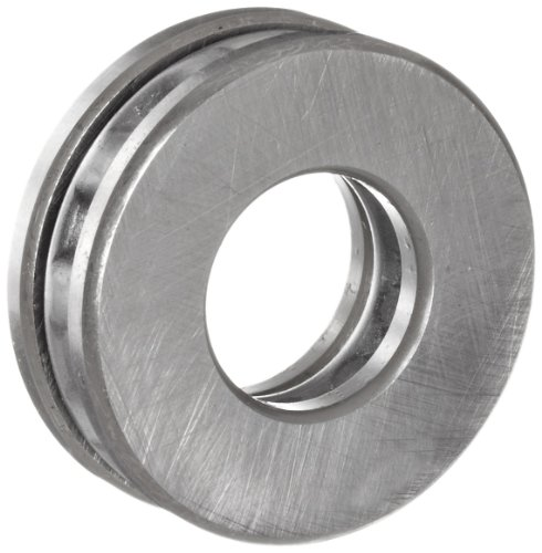 NSK 51104 Thrust Bearing, Single Row, 3 Piece, Grooved Race, Pressed Steel Cage, Metric, 20mm Bore, 35mm OD, 10mm Width, 5300rpm Maximum Rotational Speed, 26600N Static Load Capacity, 15100N Dynamic Load Capacity by NSK