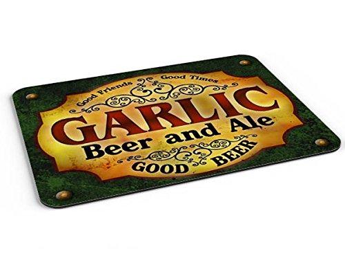 Garlic Beer & Ale Mousepad/Desk Valet/Coffee Station Mat
