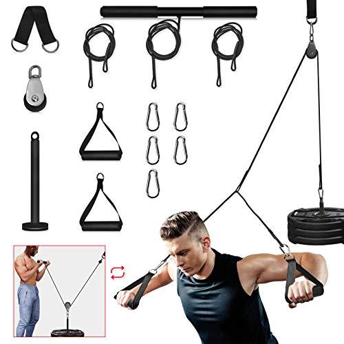 Katrol voor fitness gyms thuis, DIY-uitrusting van training met triceps-touw voor krachtkooien of tillen, LAT pulldown…