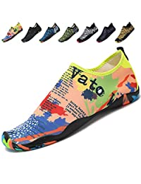 adituo Womens Mens Water Sports Shoes Aqua Barefoot Socks Pool Beach Swim Exercise