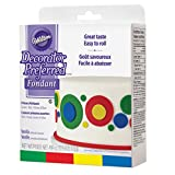 Wilton primary Colours Fondant Colour Icing, Decorator Preferred, Ready to Use, 124g (4.4oz), pack of 4