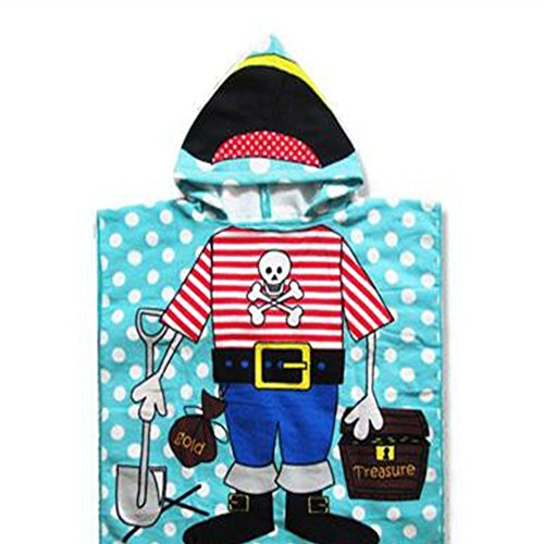 URlighting Hooded Towel Baby Bath Towel Poncho Style Beach Towel Pirates Theme Fast Drying 24