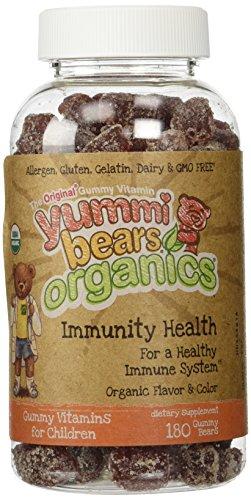 Hero Nutritionals Yummi Bears Organics Immunity Health Vitamins 180 Gummy Bears Organically Boosts Children's Immune Systems NO GMO, Dairy and Gluten FREE