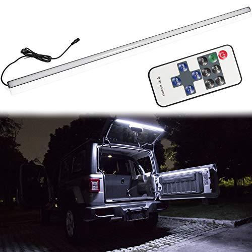 Sunluway LED Rear Glass Lift Gate Dome Light Bar Provide Bright on Dark for Jeep Wrangler JK JL JLU 2018 2019 (Lift Bars Rear)