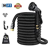 hose as seen on tv - Expandable Garden Hose, Anteko 50ft Strongest Expandable Water Hose, 8 Functions Sprayer With Double Latex Core, 3/4