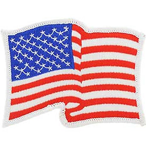 (FindingKing American Flag Wavy with White Border Right Arm Patch)