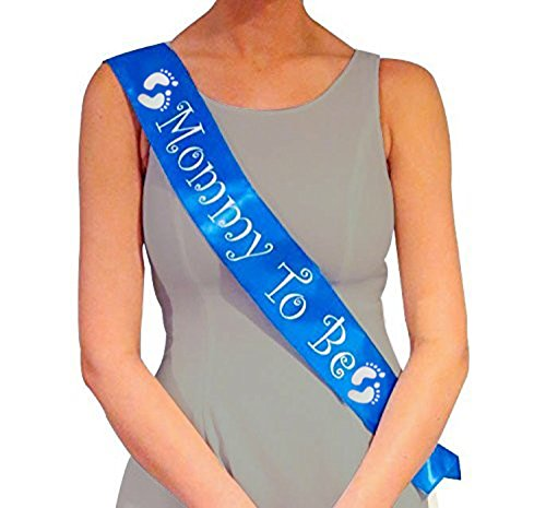 Blue Mommy To Be Sash - Baby Shower Decorations gift for Boy