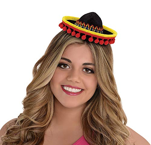 Amscan Cinco De Mayo Fabric Sombrero Headband | Party Costume ()