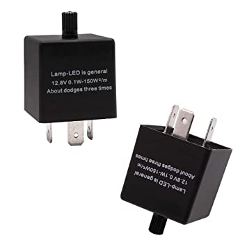 Turn Signal Relay >> Gzxy 3 Pin Cf14 Ep35 Led Flasher Relay For Turn Signal Bulbs Adjustable 1 Pack