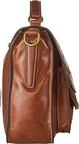 Athene Wendy Chocolate Large Calvin Klein Womens Milk Washed Leather Crossbody qEvxtn