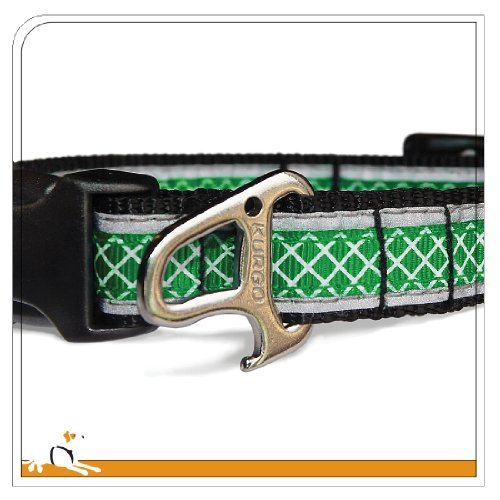Image of Kurgo Wander(TM) Reflective Dog Collar, Small, Green
